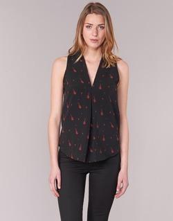 Vêtements Femme Tops / Blouses Les P'tites Bombes MERVINE Noir / Rouge