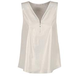 Vêtements Femme Tops / Blouses Les P'tites Bombes LOUVALE Blanc / Doré