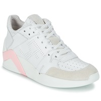 Chaussures Femme Baskets montantes Serafini CHICAGO Blanc / Rose