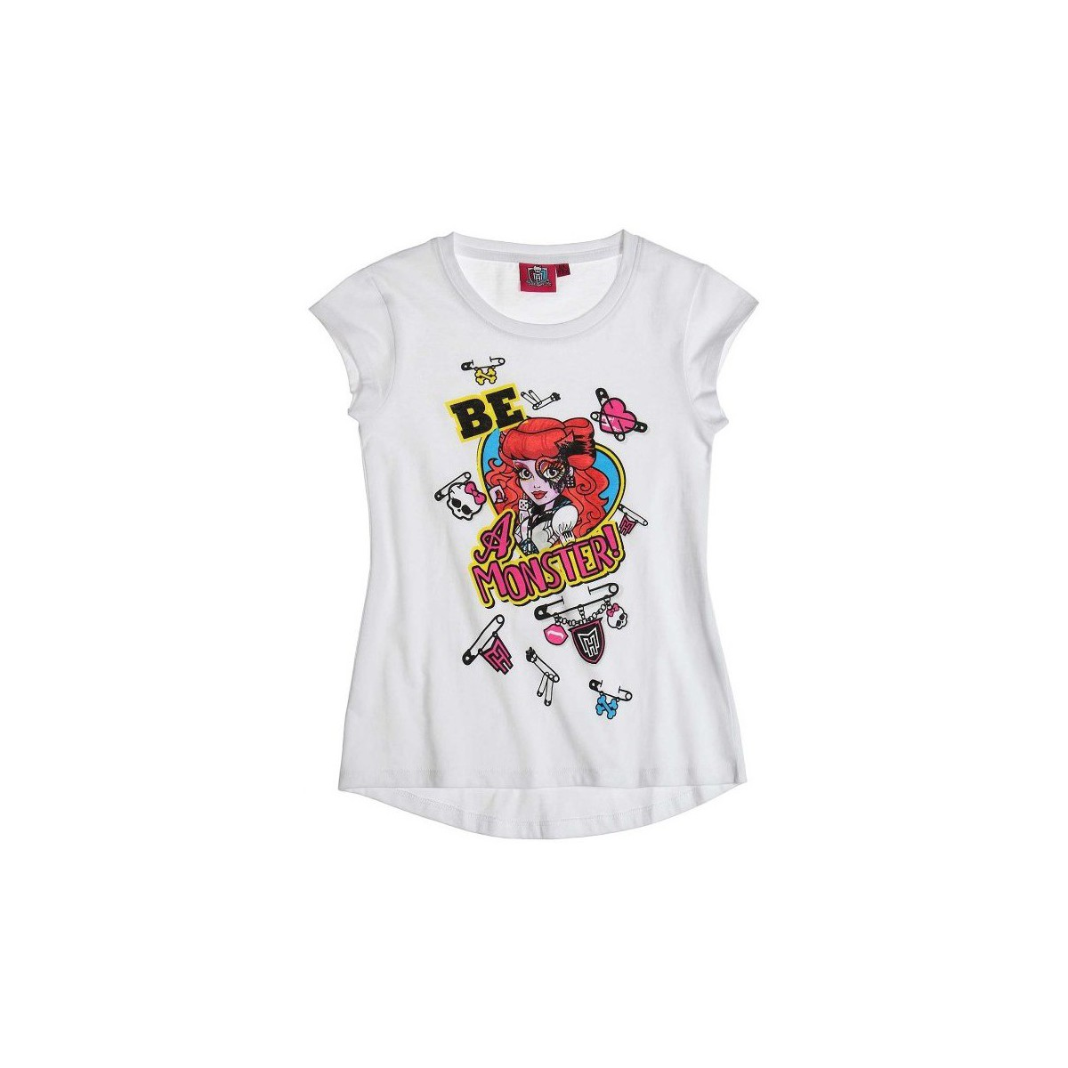 Mattel T-shirt à manches courtes Monster High blanc