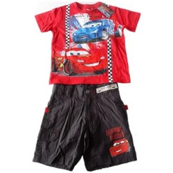 Ensembles enfant Disney Ensemble bermuda et T-shirt  Cars