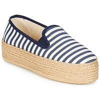 Chaussures Femme Espadrilles Betty London GROMY Marine / Blanc