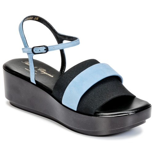 Chaussures Femme Sandales et Nu-pieds Robert Clergerie PODDY Noir / Bleu