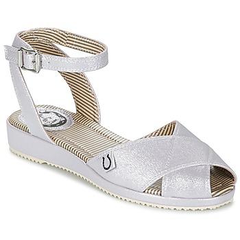 Chaussures Femme Sandales et Nu-pieds Miss L'Fire HARLOW Argenté