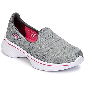 Chaussures Fille Slips on Skechers GO WALK 4 Gris
