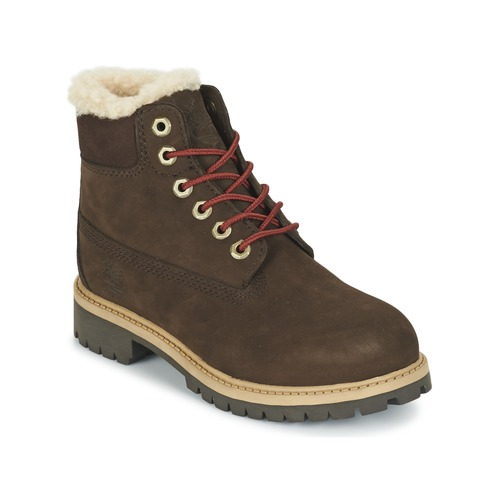 Chaussures Enfant Boots Timberland 6 IN PRMWPSHEARLING Marron
