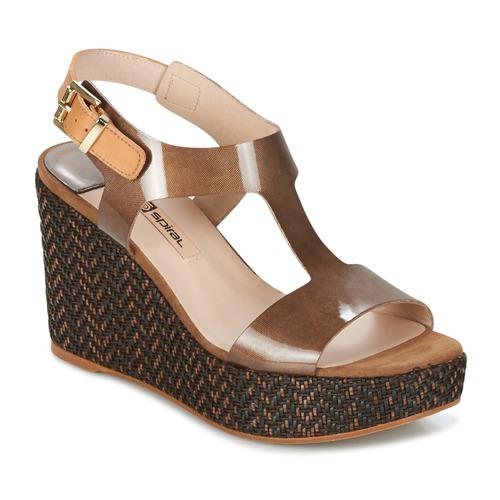 Chaussures Femme Sandales et Nu-pieds Spiral PAULA Marron