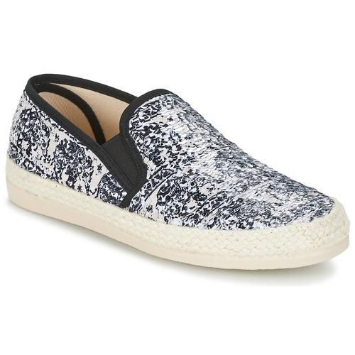 Chaussures Femme Espadrilles Spiral VIRGINIA Noir / Blanc