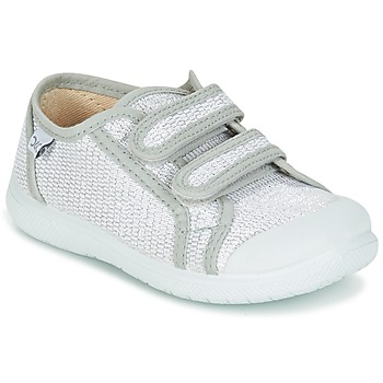 Chaussures Fille Baskets basses Citrouille et Compagnie GLASSIA Argenté