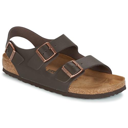 Birkenstock MILANO Sandales Homme Noir Noir - Chaussures Sandale Homme