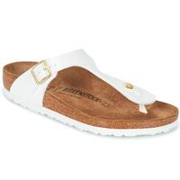 Chaussures Femme Tongs Birkenstock GIZEH Blanc / Doré