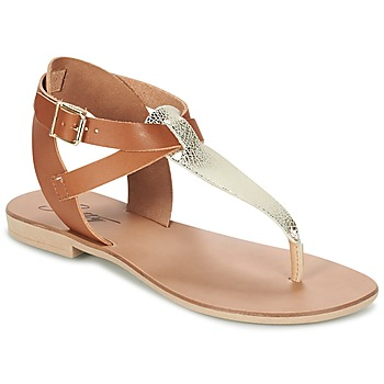 Chaussures Femme Sandales et Nu-pieds Betty London VITAMO Camel / Doré