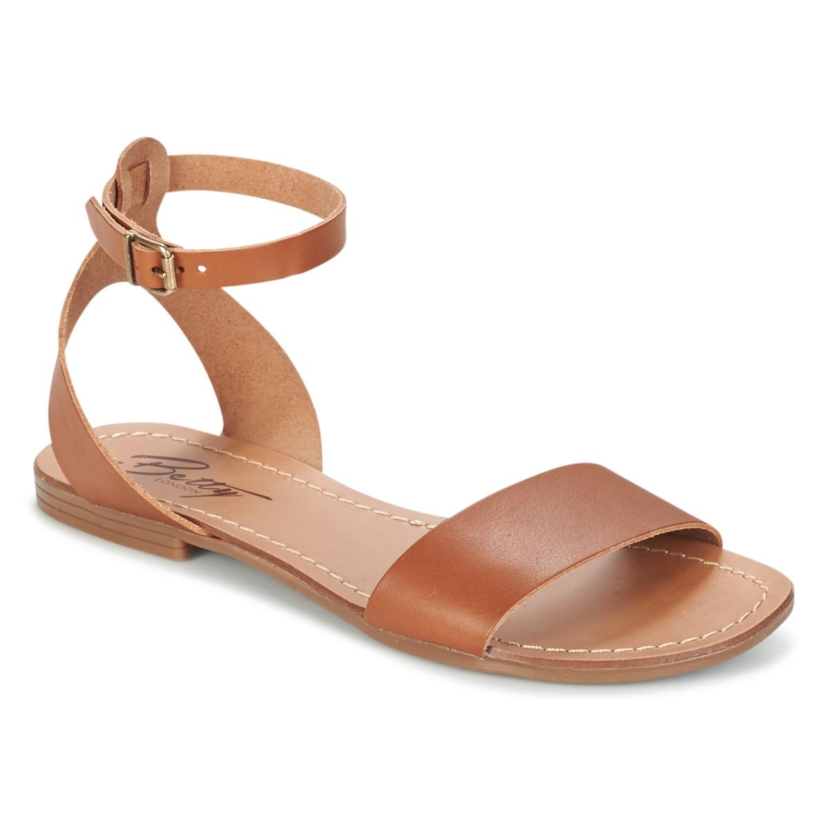Betty London GIMY Camel - Livraison Gratuite avec  - Chaussures Sandale Femme