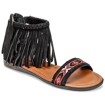 Chaussures Femme Sandales et Nu-pieds Minnetonka MOROCCO Noir