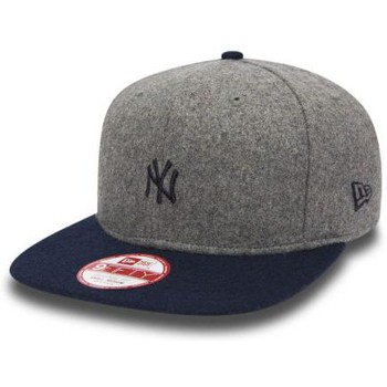 Casquettes New Era Casquette New Era New York Yankees Melton Mini Logo Gris Snapbac
