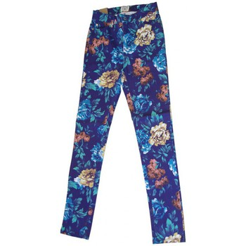 Vêtements Femme Pantalons 5 poches Insight Pantalon  Floral High N Mighty - Blue Floral Bleu