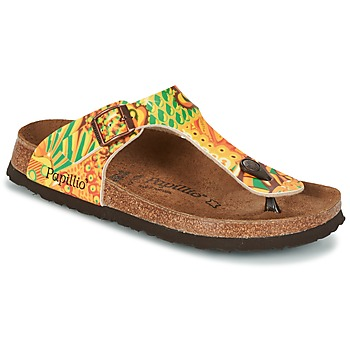 Chaussures Femme Tongs Papillio GIZEH Jaune / Vert