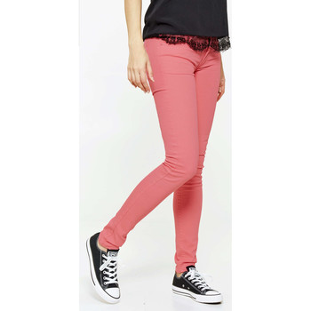 Vêtements Femme Jeans slim Cheap Monday Jeans  Zip Low Slim Rose Femme Rose