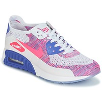 Chaussures Femme Baskets basses Nike AIR MAX 90 FLYKNIT ULTRA 2.0 W Blanc / Bleu / Rose