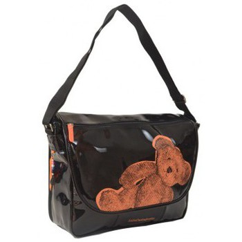Besaces LuluCastagnette Cartable  fille  en synthétique vernis LVX25147ORANGE