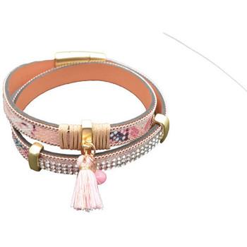 Montres & Bijoux Femme Bracelets Selection Francuir Bracelet fantaisie B-BKROSE Rose
