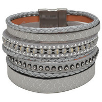 Bracelets Selection Francuir Bracelet fantaisie B-BPGRIS