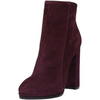 Chaussures Femme Bottines Wo Milano T304 Stivaletti Bordeaux