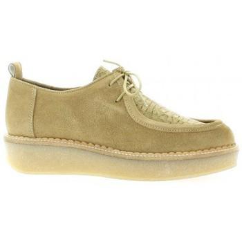 Chaussures Femme Derbies Minka Derby cuir velours Camel