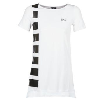 Vêtements Femme Tuniques Emporio Armani EA7 TRAIN MASTER Blanc / Noir