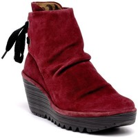 Chaussures Femme Boots Fly London Bottines rouge