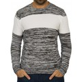 Beststyle Pull homme rayé noir
