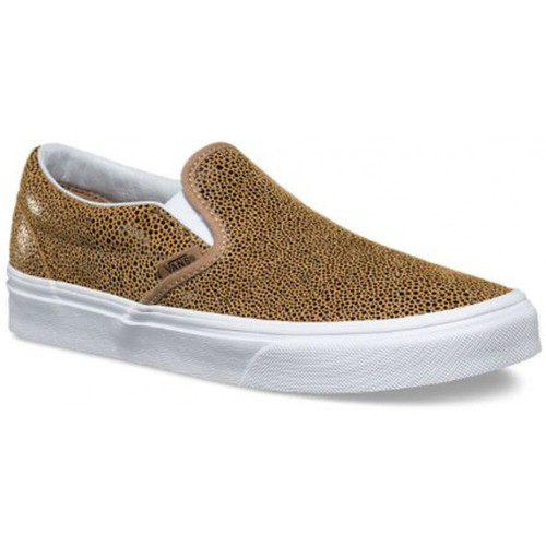 Chaussures Baskets mode Vans Chaussures  U Classic Slip-On - Embossed Stingray Tan Marron