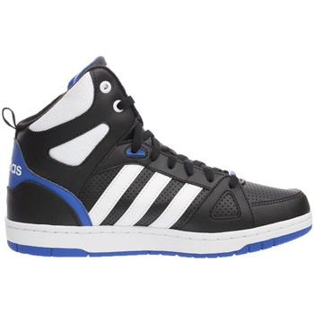 Chaussures Homme Baskets montantes adidas Originals Hoops Team Mid Bleu-Noir-Blanc