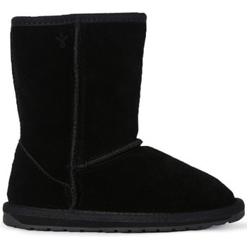 Chaussures Fille Boots EMU WALLABY LO KIDS BLACK Nero
