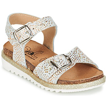 Chaussures Fille Sandales et Nu-pieds Citrouille et Compagnie GAUFRETTE Doré / Blanc