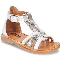 Chaussures Fille Sandales et Nu-pieds Citrouille et Compagnie GITANOLO Blanc / Argenté