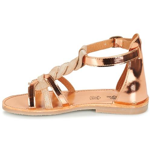 pieds Citrouille Chaussures BeigeCuivre Sandales Fille Et Gitanolo Nu Compagnie n0wkPONX8