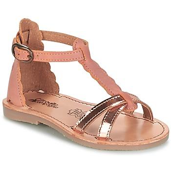 Chaussures Fille Sandales et Nu-pieds Citrouille et Compagnie GUBUDU Rose / Doré