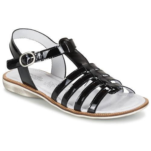 Chaussures Fille Sandales et Nu-pieds Citrouille et Compagnie GROUFLA Noir