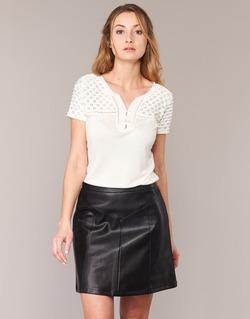 Vêtements Femme T-shirts manches courtes Naf Naf OPARI Ecru