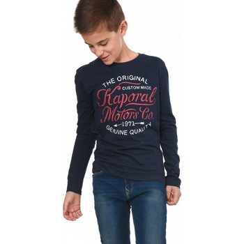 Vêtements Garçon T-shirts manches longues Kaporal Tee-Shirt  Ganza Bleu Bleu