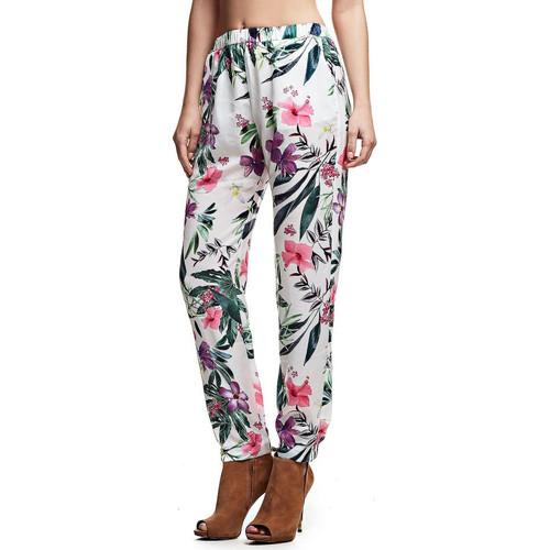 Vêtements Femme Pantalons fluides / Sarouels Guess Pantalon Aurelie imprimé floral Multicolore