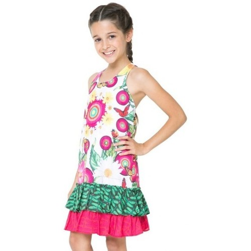 Vêtements Fille Robes Desigual Robe  Brazzaville Blanc 61V32B4 Blanc