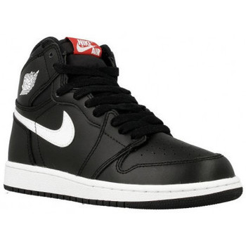 Chaussures Enfant Baskets montantes Nike Basket  Jordan 1 Retro High OG Junior - Ref. 575441-011 Noir