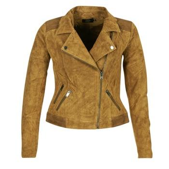 Vêtements Femme Vestes en cuir / synthétiques Only JOSEPHINE Cognac