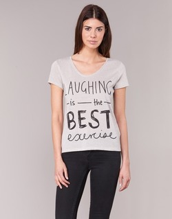 Vêtements Femme T-shirts manches courtes Only MUSIC CAN CHANGE Ecru