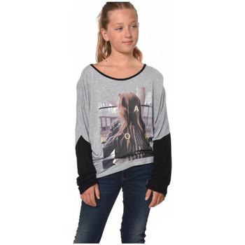 Vêtements Fille T-shirts manches longues Kaporal Tee-Shirt  Perac Gris Mélangé Gris