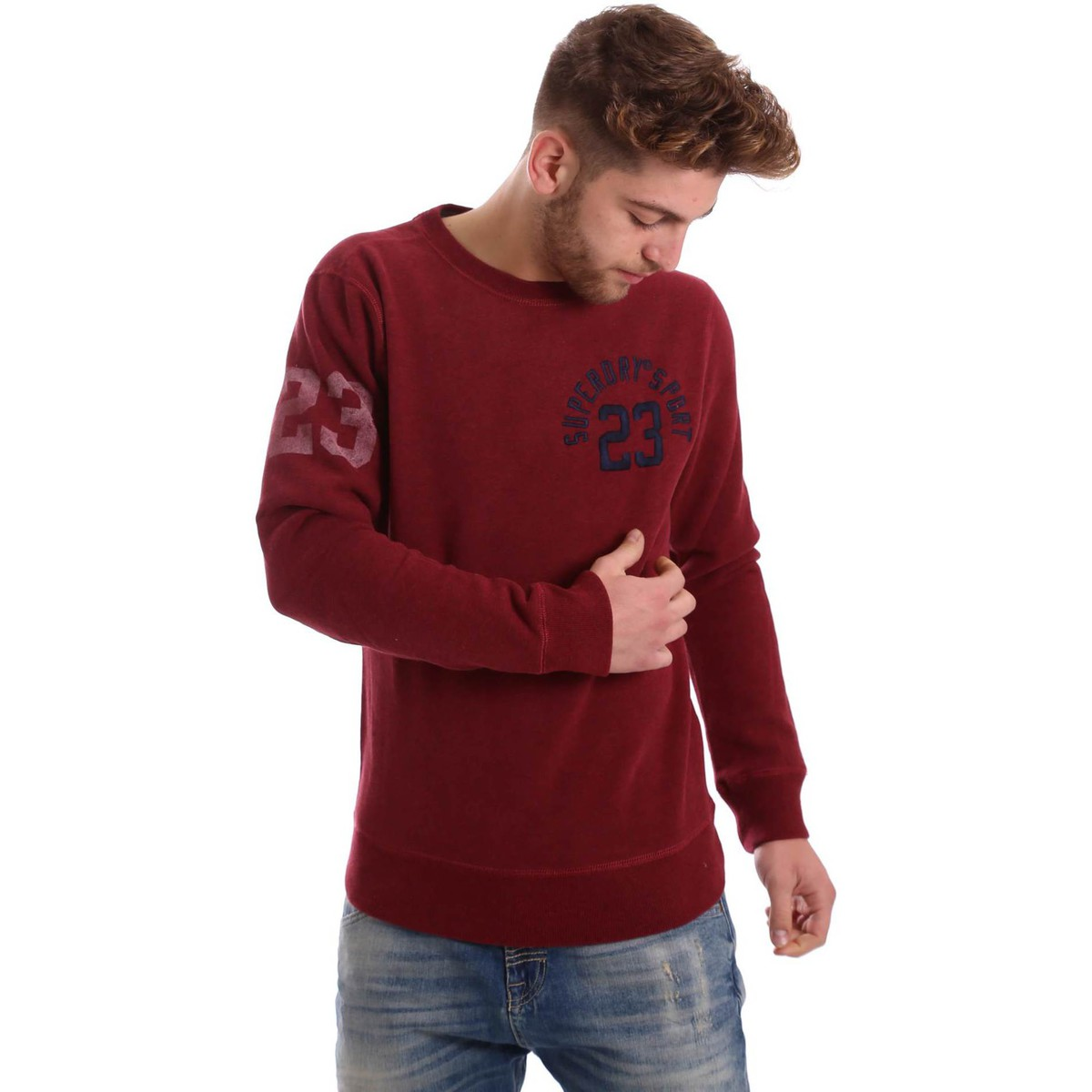 Superdry M20024PNF5 Pullover Man Rouge