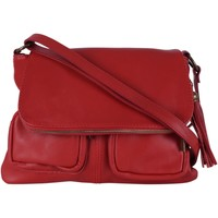 Sacs Femme Sacs porté épaule Oh My Bag Sac à Main cuir bandoulière femme - Modèle Avril rouge fonce ROUGE FONCE