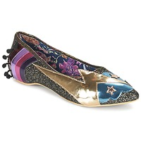 Chaussures Femme Ballerines / babies Irregular Choice GROUND CONTROL Noir / Doré